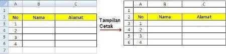 Menampilkan Unsur Lembar Kerja Excel 05
