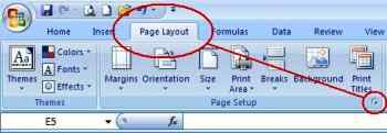 Orientasi Print Excel Melalui Page Setup 01
