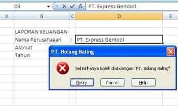 Protek Excel Teks5